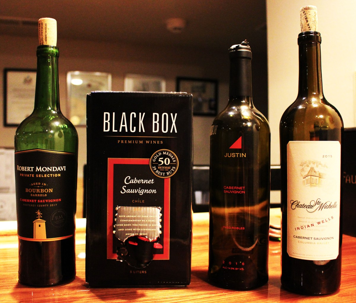blind wine tasting cabernet sauvignon