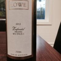 Lowe Organic Zinfandel 2012