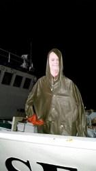 Never thought I'd be on a boat. It's a big blue watery road. Poseidon! Look at me!