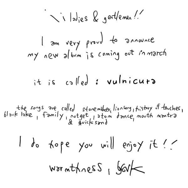 bjork album announcement facebook