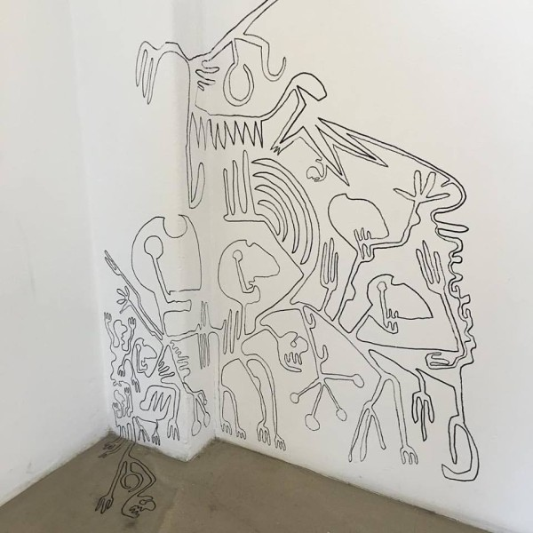 Einar Örn wall drawing