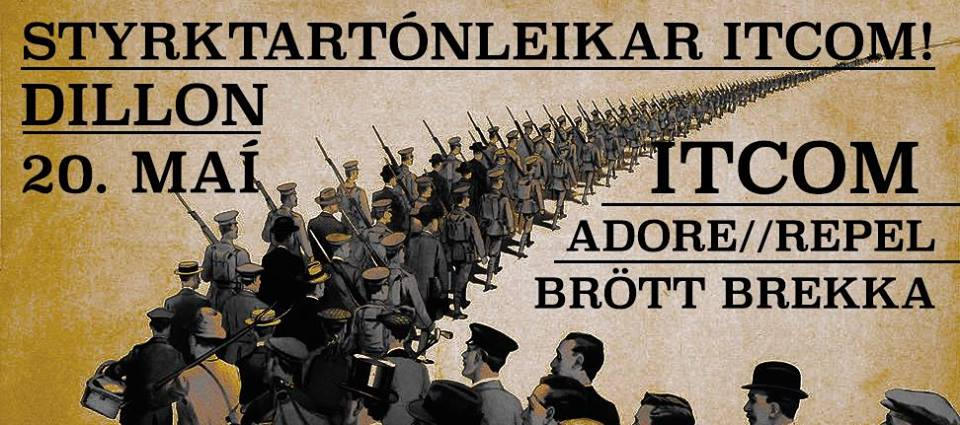 Happening Today: Adore//repel, In the Company of Men & Brött Brekka at Dillon