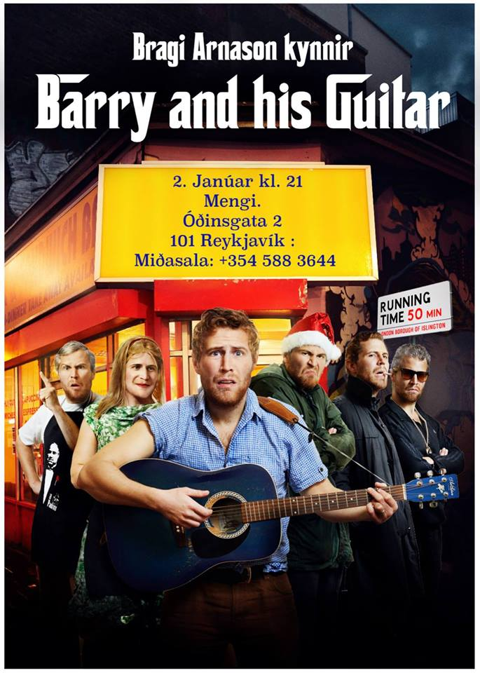 Barry And His Guitar Are In Iceland