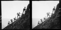 A good surveyor needs to be a good climber.