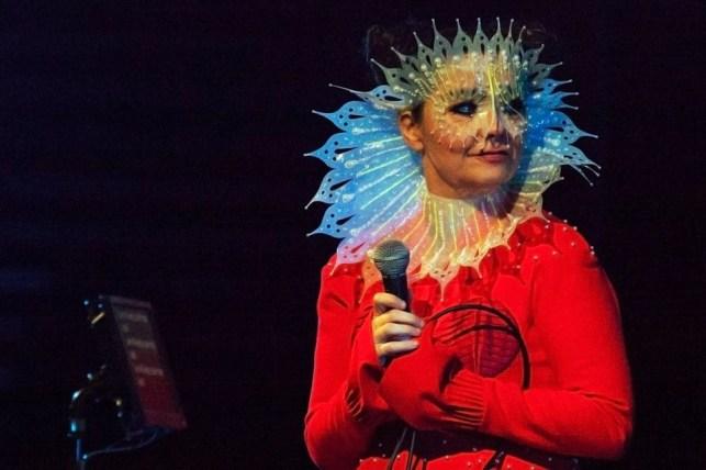 Björk at Harpa by Santiago Felipe