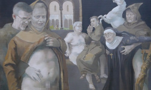 Icelandic Artist Interprets Klausturgate In New Painting (NSFW)