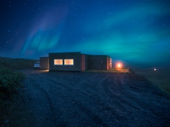 Northern Lights over Hrifunes Nature Park cabin