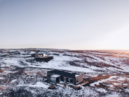 Hrifunes Nature Park cabins in south Iceland