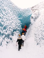 The blue crevasse