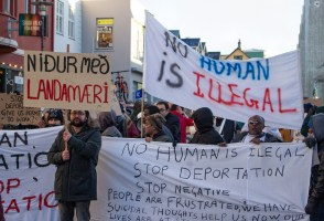 More Than 100 People Protest Deportations of Refugees & Asylum Seekers From Iceland