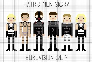 Eurovision Bondage Demons Hatari Now Have A Stitching Pattern