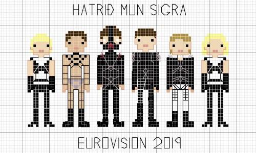 Eurovision Bondage Demons Hatari Now Have A Stitching Pattern