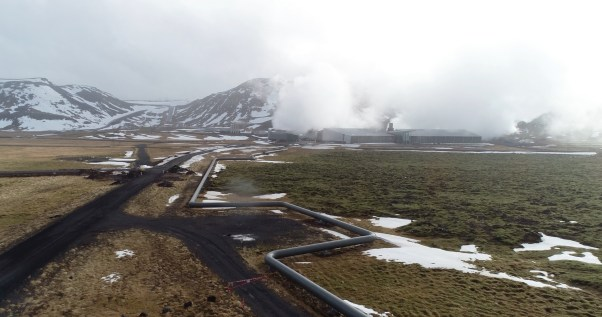 Pipes supplying hot water to Reykjavik and the surrounding areas