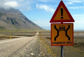 Speed Limit Lowered For Single-Lane Bridges In Iceland, New Signs Coming