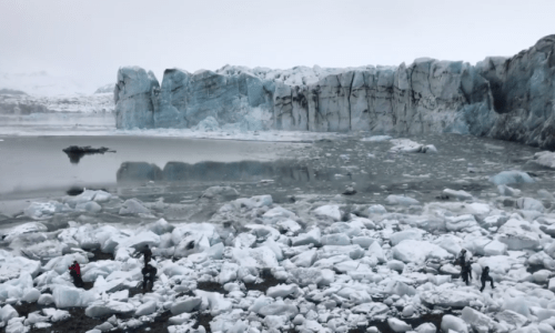 VIDEO: Calving Glacier In Iceland Sends Tourists Running For Cover