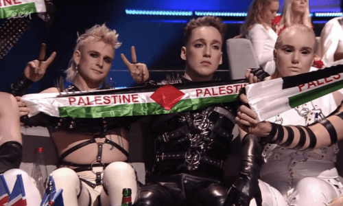 Hatari And Madonna Show Palestinian Flags At Eurovision In Tel Aviv