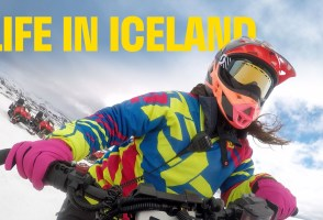 VIDEO: Life Of A Snowmobile Tour Guide In Iceland
