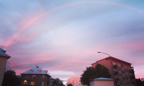 Photos And Video: A Midnight Rainbow Over Iceland