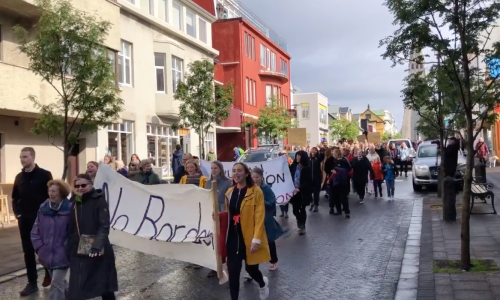 Photos & Video: Icelanders Demonstrate Against Child Deportations