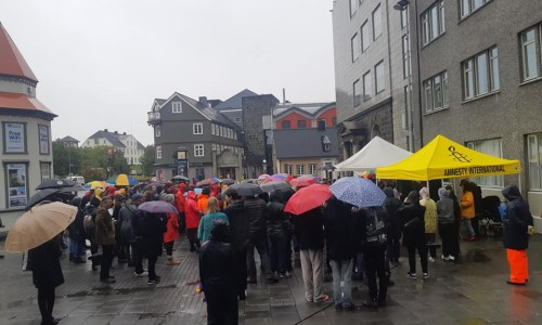 Around 200 Gathered For Anti-Fascist Rally In Reykjavik