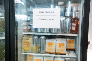 Don't touch beer samples! Photo by Art Bicnick