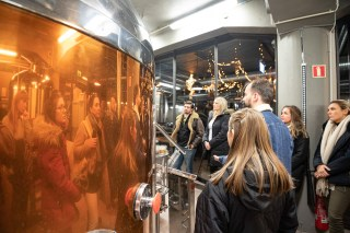 Learning the secrets of Icelandic beer. Photo by Art Bicnick