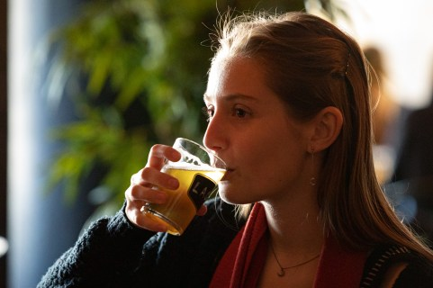 Lea, our German intern, said it is much more flavourful then beer in Bavaria. Photo by Art Bicnick