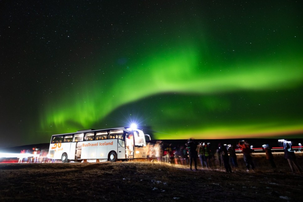 Northern Lights tour with BusTravel Iceland. Photo by Art Bicnick