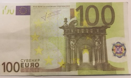 """""""Counterfeit"""" Euros Actually Play Money Being Passed Off As Real"""