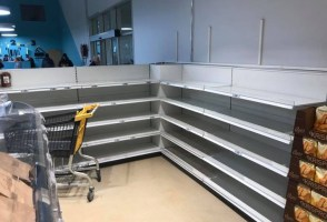 Bread Shelves Cleared Last Night Before Storm