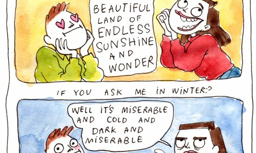 Summer Wonder VS Winter Depression: A Comic By Elín Elísabet