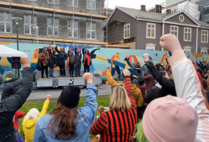VIDEO: About 4,000 Attend Black Lives Matter Demonstration In Reykjavik