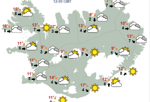 Iceland's Weekend Forecast: Warm And Sunny, Then Warm And Rainy