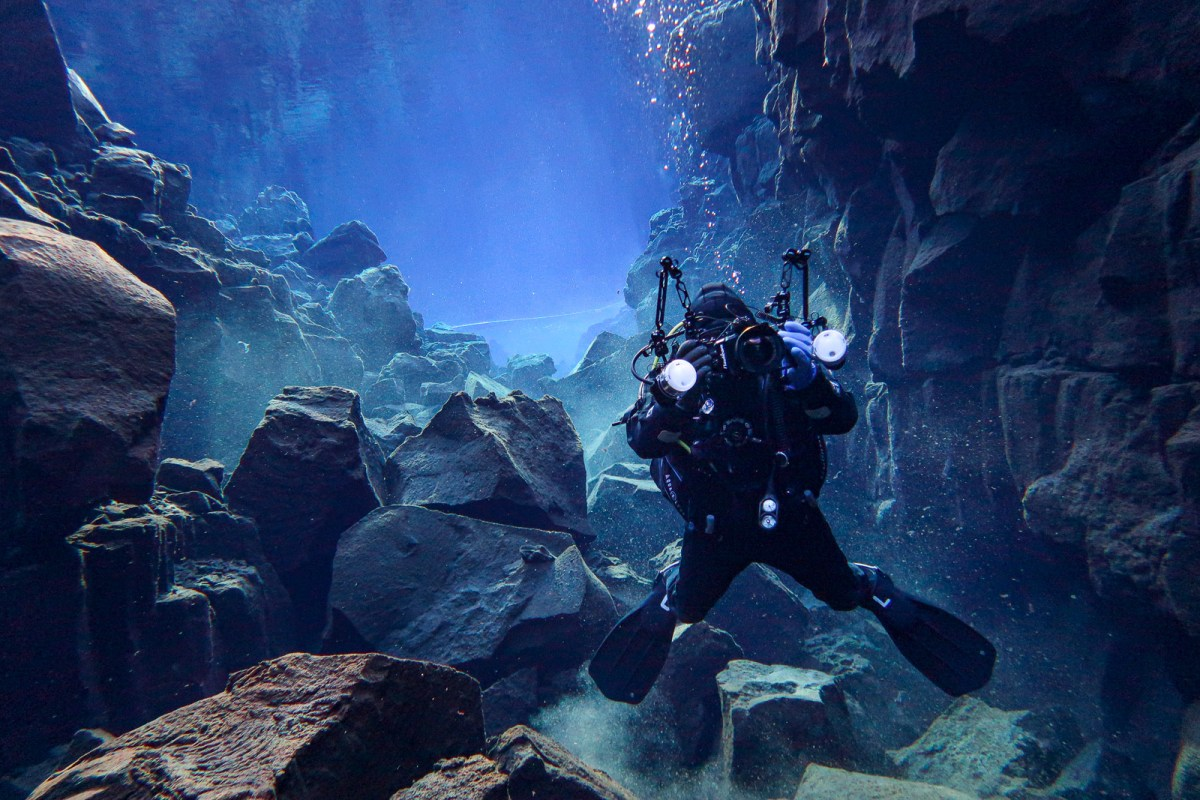 The Underwater Cathedral Of Ice, Rock And Light: Diving Daviðsgjá