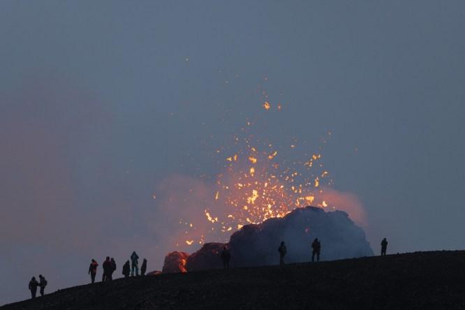 Geldingadalsgos Volcano - photo Axel Sigurðarson
