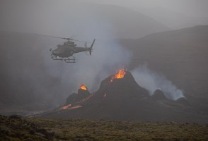 Eruption Site Closed Due To Risk Of Wildfires