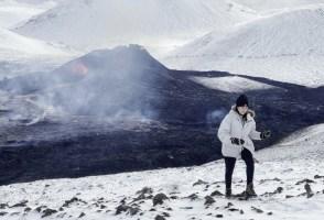 We Flew Over The New Volcano At Geldingadalur