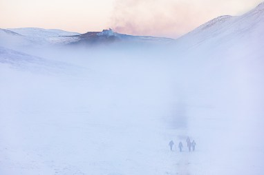 Foggy day at Geldingadalur. Photo by Art Bicnick