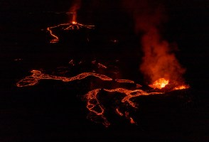 Lava Rain At The Eruption Site