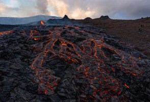 An Unexpected Lava Flow At The Volcano