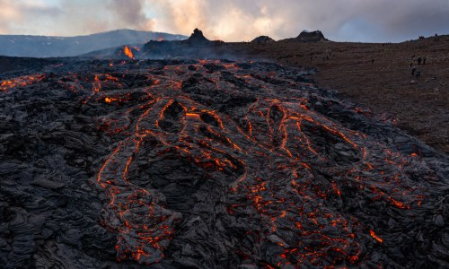 Geldingadalsgos' Crater Blows Lava 300 Metres Into The Air
