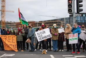 VIDEO: Demonstrators Show Solidarity With Palestine At Summit Meeting