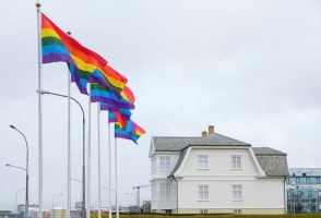 Pride Flags Raised Across Reykjavik