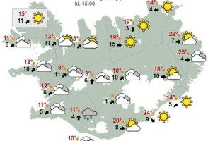 Near Record Temperatures in Eastfjords