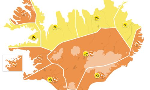 Orange Weather Warning Over Most Of Iceland
