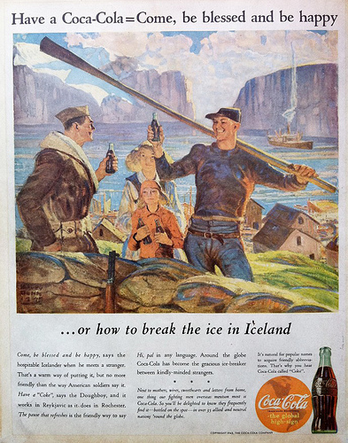 Coca-Cola In Iceland In  1944:  Come, Be Blessed And Be Happy!