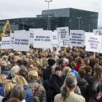 nurse strike by Sigtryggur Ari Johannsson