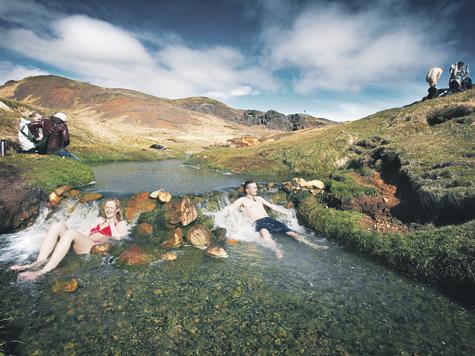 Bubbling Water and a Hidden Bathing Spot