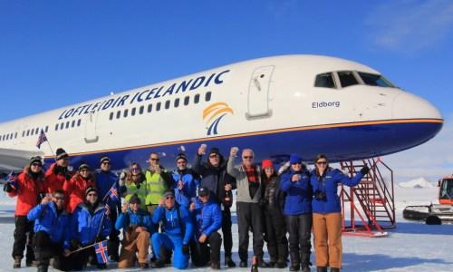 Icelandic Airline Company Participates In Historic Antarctic Landing