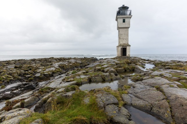 Akranes Lighthouse. Build in 1918, 13m height.